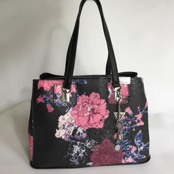 NEW Guess Purse Williamson Women Bag Handbag Black 35e31e9040a5d